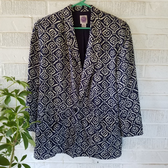 Saks Fifth Avenue Jackets & Blazers - Saks fifth avenue silk blazer ikat vintage